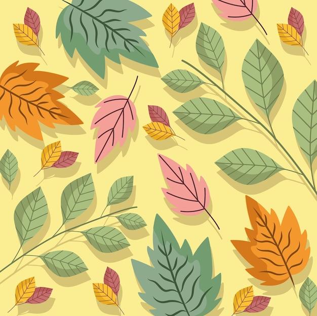 Листья ветви листва природа экология цветение фоновой иллюстрации