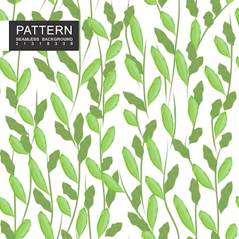Leaves and branches seamless pattern