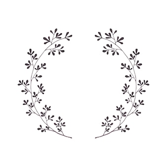 Leaves custom wreath design