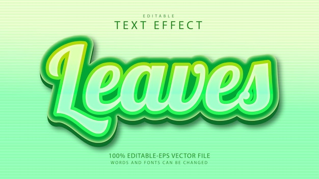 Leaves  editable  text effect