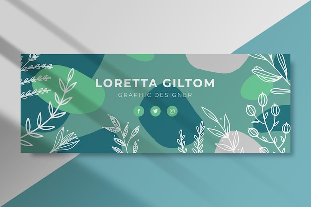 Leaves facebook cover template