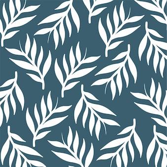 Leaves floral pattern background botanical vector illustration
