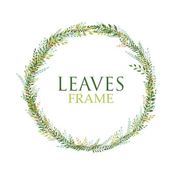 Leaves frame vector design