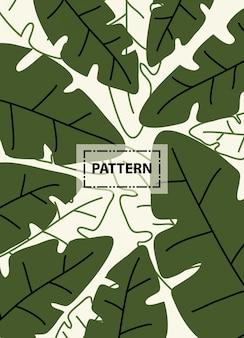 Leaves green patten