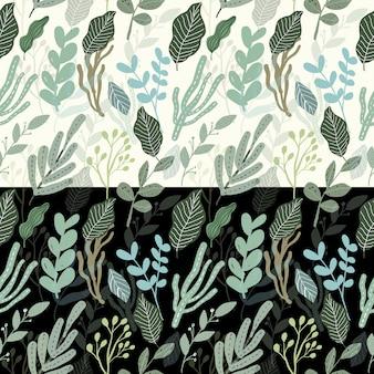 Leaves green seamless pattern
