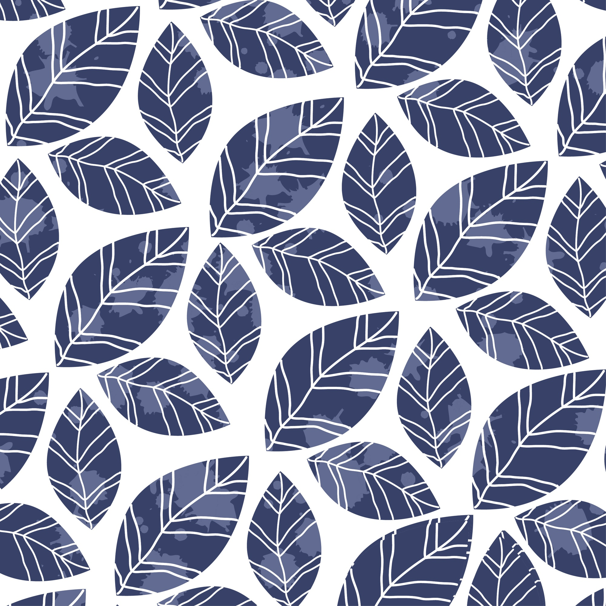Leaves grunge pattern