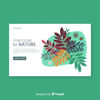Leaves landing page