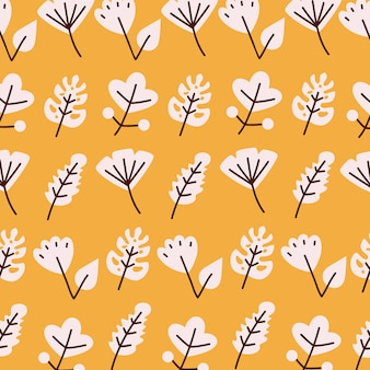 Leaves line and fill style icon set background design of plant natural floral and theme  illustration