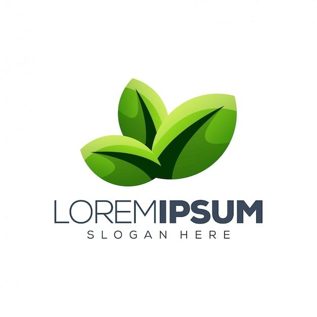 Leaves logo template
