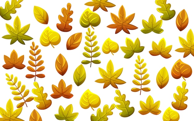 Leaves pattern in autumn thematics