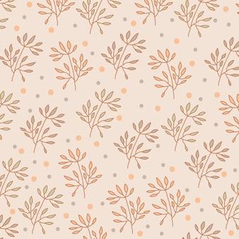 나뭇잎 패턴 배경. 빈티지 스타일.