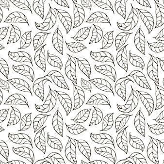 나뭇잎 패턴 디자인