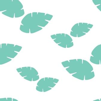 Petterndesignベクトルを残します。シームレスな熱帯の葉のパターン