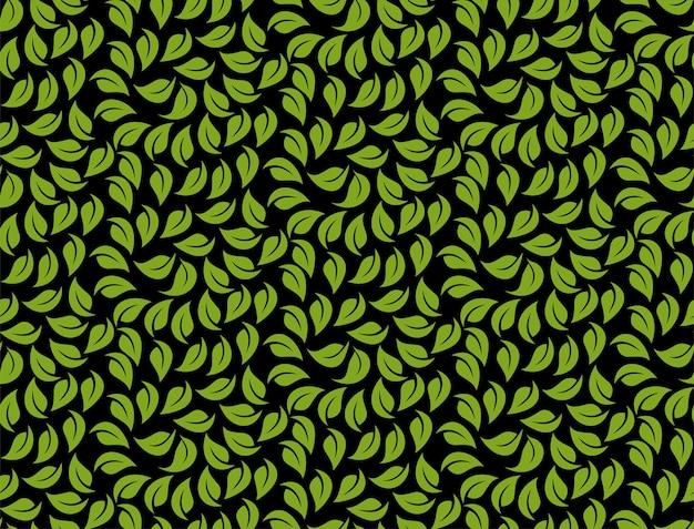 シームレスなパターンを残します。無限の春のベクトルの背景。モダンでスタイリッシュな抽象的なテクスチャ。自然の要素から幾何学的なタイルを繰り返す