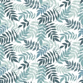 Листья бесшовные модели. растительный орнамент лист.