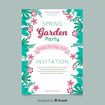 Leaves on the side spring party poster
