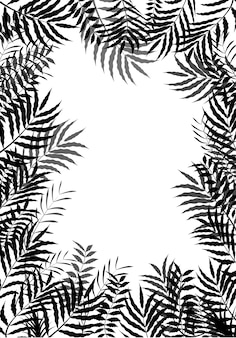 Leaves silhouette of frame background