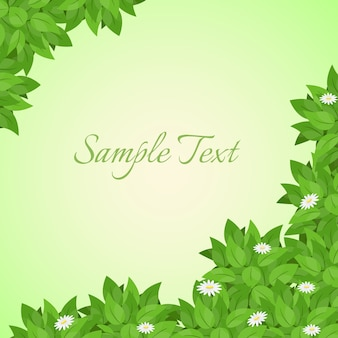 Leaves vector backgraound and frame, vector illustration