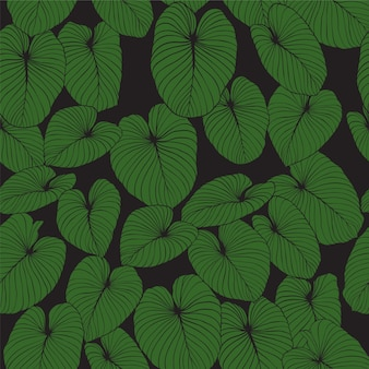 Leaves vector seamless pattern background for design