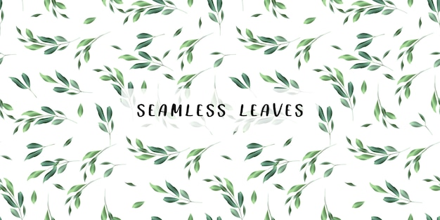 Leaves watercolor pattern background