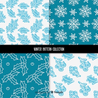 Leaves winter pattern collection