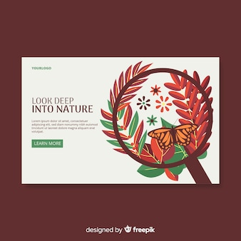 Leaves wreath nature landing page