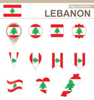 Lebanon flag collection, 12 versions