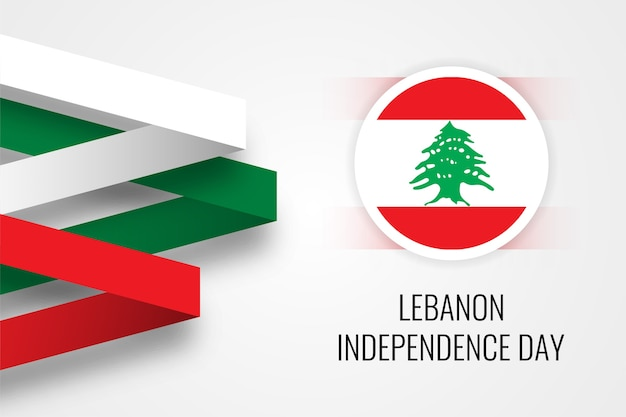 Lebanon independence day illustration template