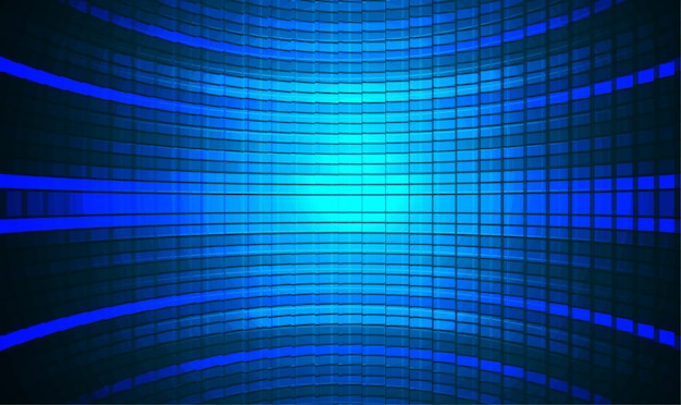 Led blue cinema screen background