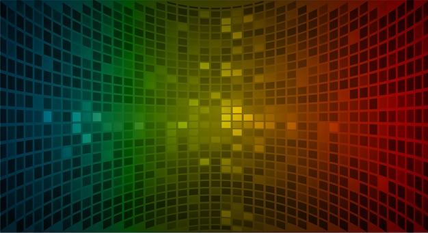 영화 프리젠 테이션을위한 led 시네마 스크린. 밝은 추상 기술 배경