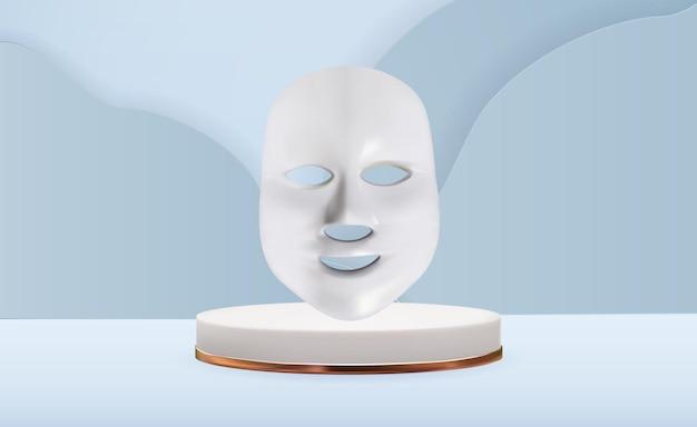 化粧品のフェイスマスクを導いた。在宅介護用アンチエイジングガジェット