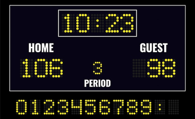 Led digital scoreboard