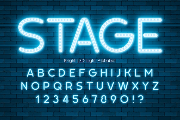 Led 조명 3d 알파벳, 여분의 빛나는