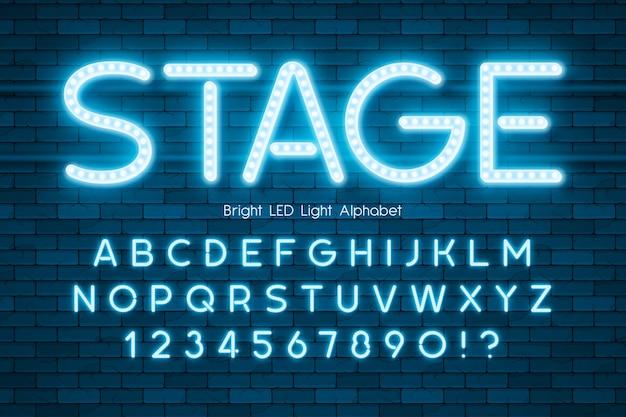 Led light 3d alphabet, extra glowing