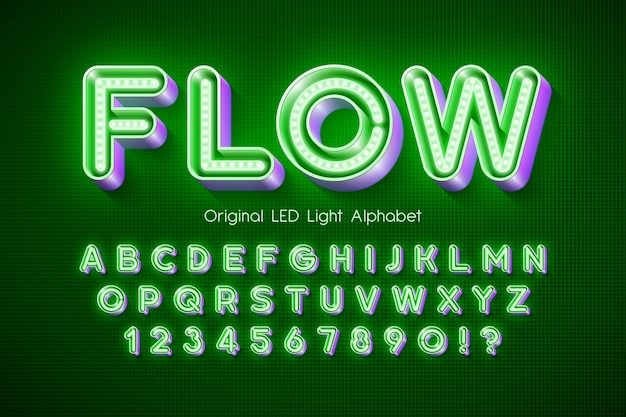Led light alphabet