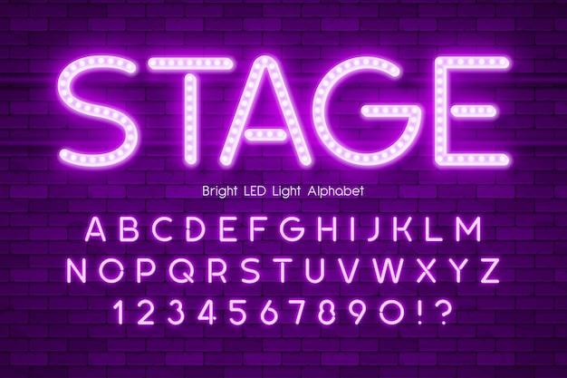 Led light extra glowing alphabet