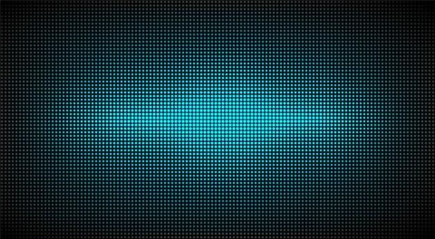 Светодиодная текстура экрана. жк монитор. аналоговый цифровой тв-дисплей. бирюзовая телевизионная видеостена. электронный диодный эффект. шаблон сетки проектора.
