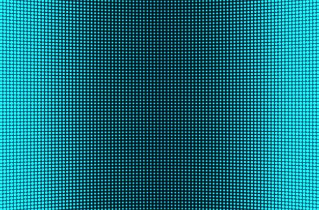 Светодиодный экран. тв фон. текстура жк с точками. пиксельный монитор. цифровой дисплей. голубая телевизионная видеостена. электронный диодный эффект. шаблон сетки проектора с лампочками.