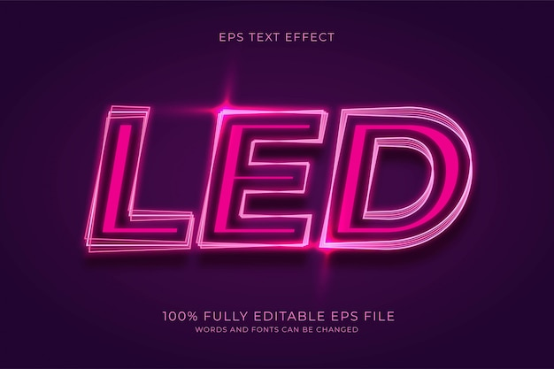Led text effect