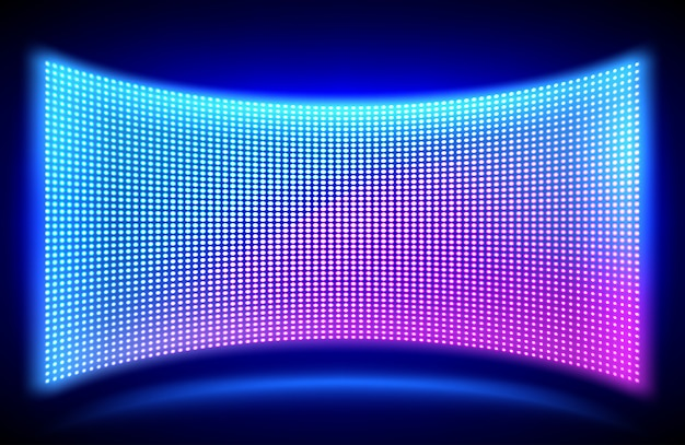 Led wall video screen with glowing dot lights