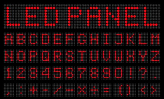 Ledデジタルアルファベット、フォント、電子番号。