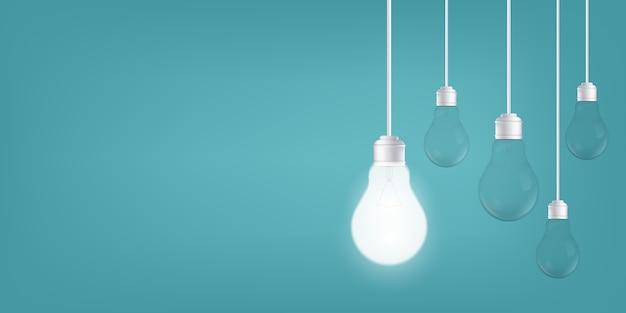 背景、led電球の電球。