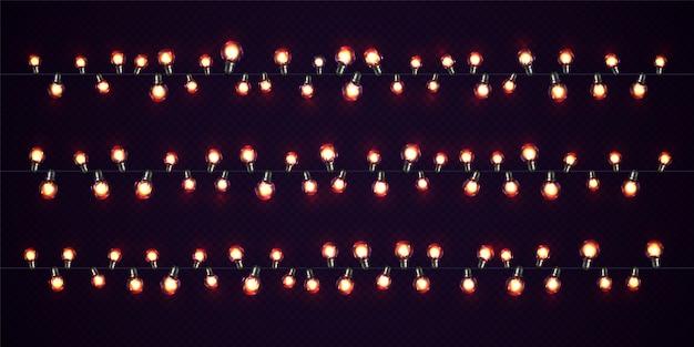 クリスマスのあかり。 led電球のクリスマス輝く花輪