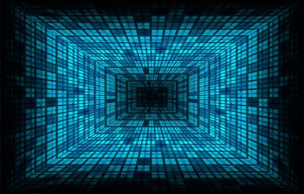 映画用ブルーledシネマスクリーン光の抽象的な技術の背景