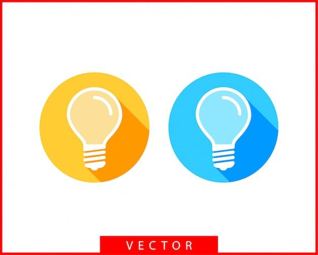 電球のロゴ。ledライト分離シルエット。