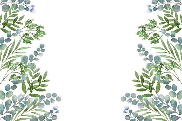 왼쪽 및 오른쪽 잎 복사 공간