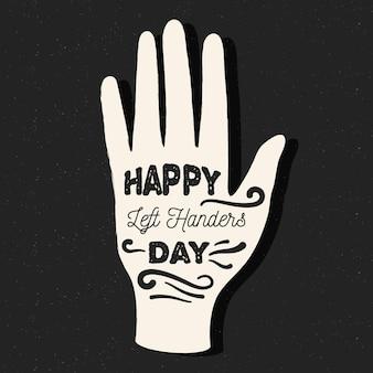 Left handers day draw