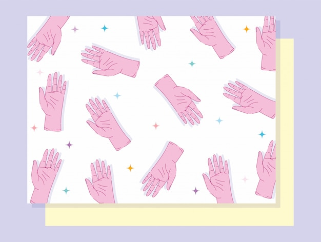 День левой руки показывает дизайн пять пальцев