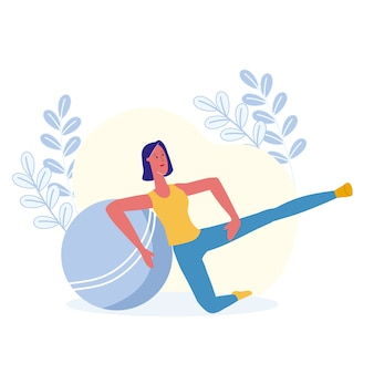 Leg lifts, physical exercise vector illustration