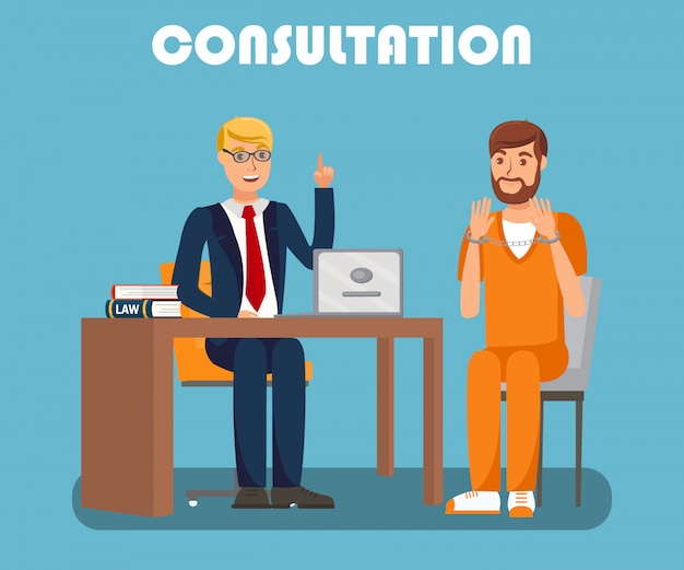 Legal advisor consultation flat banner